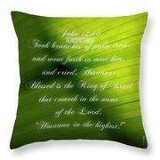 Palm Branch Throw Pillow