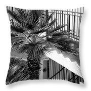 Palm Chevron Palm Springs Throw Pillow