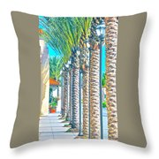 Palm Columns Throw Pillow