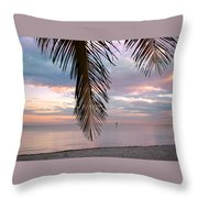 Palm Courtain II Throw Pillow