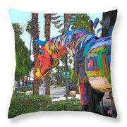 Palm Desert Coda Throw Pillow