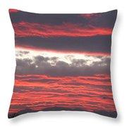 Palm Desert Sunset Throw Pillow
