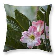 Palm Flower Throw Pillow