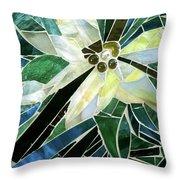 Palm Flower Mosaic Throw Pillow