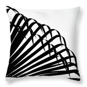 Palm Frond Black And White Throw Pillow