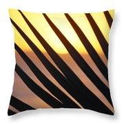Palm Frond Detail Throw Pillow