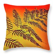 Palm Frond In The Summer Heat Throw Pillow