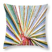 Palm Frond Lines Throw Pillow