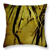 Palm Fronds Are Green Throw Pillow