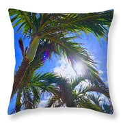 Palm Gazing Throw Pillow