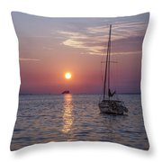 Palm Harbor Florida At Sunset Throw Pillow