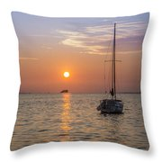 Palm Harbor Has The Best Sunsets Throw Pillow