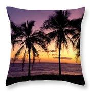 Palm Horizons Throw Pillow