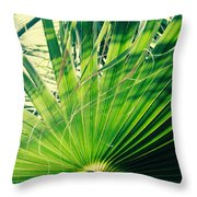 Palm House Branch Throw Pillow