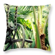 Palm House Pulley Throw Pillow