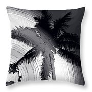 Palm In Grey Throw Pillow
