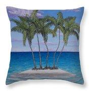 Palm Island Throw Pillow