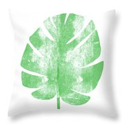 Palm Leaf- Art By Linda Woods Throw Pillow