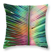 Palm Leaf Art Throw Pillow