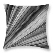 Palm Leaf Texture Throw Pillow