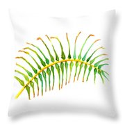 Palm Leaf Watercolor Throw Pillow