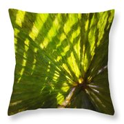 Palm Leaves And Morning Light Throw Pillow