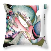 Palm Of My Hand Throw Pillow