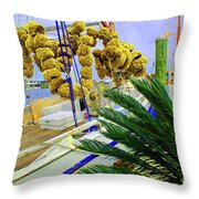 Palm Of The Dock Throw Pillow