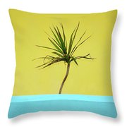 Palm On Porch Throw Pillow