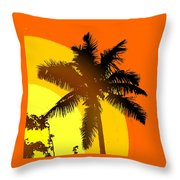 Palm On The Half Shell Throw Pillow