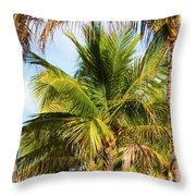 Palm Portrait Throw Pillow