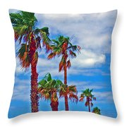 Palm Print Throw Pillow