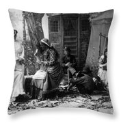 Palm Reading, C1902 Throw Pillow