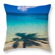 Palm Shadows Throw Pillow