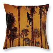 Palm Silhouette Throw Pillow