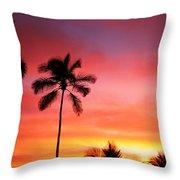 Palm Silhouettes Throw Pillow