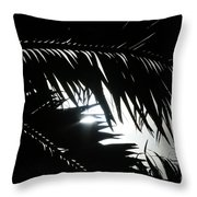 Palm Silhouettes Kaanapali Throw Pillow