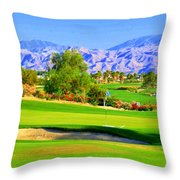 Palm Springs Golf Throw Pillow