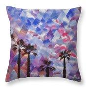 Palm Springs Sunset Throw Pillow