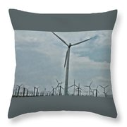 Palm Springs Windmills Throw Pillow