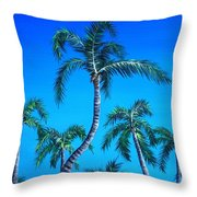 Palm Tops Throw Pillow