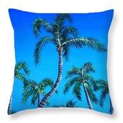Palm Tops Throw Pillow
