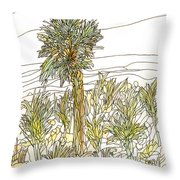 Palm Tree 1 Throw Pillow