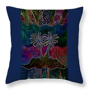 Palm Tree Abstraction Throw Pillow
