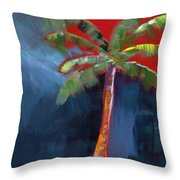 Palm Tree- Art By Linda Woods Throw Pillow