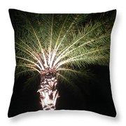 Palm Tree At Night Throw Pillow