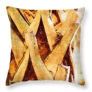 Palm Tree Bark Throw Pillow