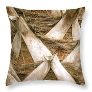 Palm Tree Bark Throw Pillow