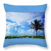 Palm Tree Dream Delray Beach Florida Throw Pillow