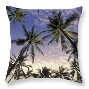 Palm Tree Grove Throw Pillow